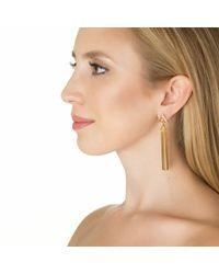Sarah Magid | Metallic Ingot Bar Earrings, Gold | Lyst