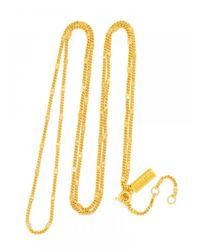 "BaubleBar - Metallic Gold Long Link Chain-30"" - Lyst"