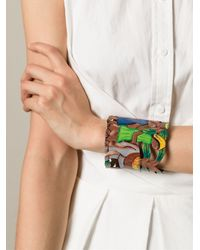 Stella Jean Multicolor Cut-Out Tropical Bracelet