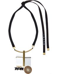 Marni | Natural Resin And Horn Drop Necklace - For Women | Lyst