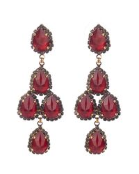 Erickson Beamon | Red Duchess Of Fabulous Earrings | Lyst