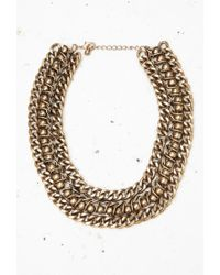 Forever 21 Metallic Chunky Curb Chain Necklace