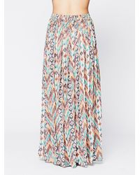 Love Sam - Blue Break Of Dawn Printed Maxi - Lyst