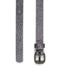 Maison Boinet Gray Glitter Covered Leather Belt