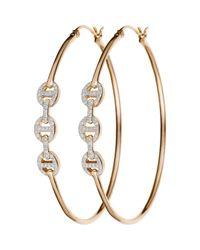 Hoorsenbuhs - Pink Diamond Tri-Link Hoops - Lyst