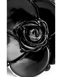 Oscar de la Renta Black Resin Flower Bracelet