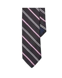 Polo Ralph Lauren - Black Striped Silk Repp Tie for Men - Lyst