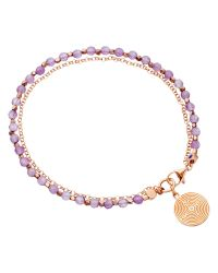 Astley Clarke | Purple Biography Labyrinth 18ct Rose Gold Vermeil Amethyst Friendship Bracelet | Lyst