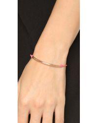 Dogeared - Pink Balance Tube Bracelet - Lyst