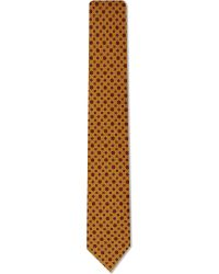 Drake's | Metallic Diamond Dots Wool Tie for Men | Lyst