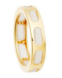 Astley Clarke - Metallic Gold-plated Moonstone Prismic Slice Ring - Lyst