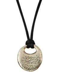 Gurhan | Black Sterling Pebble Pendant & Silk Cord Necklace | Lyst
