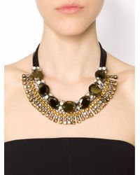 Marni Green Strass Evening Necklace