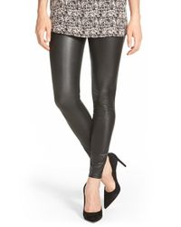Hue - Black Faux Leather Leggings - Lyst
