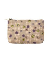 Ollie & Nic Multicolor Blake Neutral Floral Small Cosmetic Bag