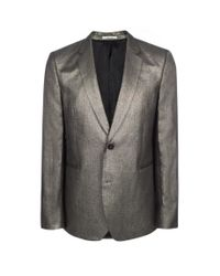 Paul Smith | Men's Metallic Silver Linen Blazer for Men | Lyst