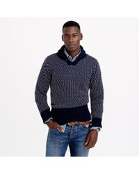 North Sea Clothing Blue Victory Shawl-collar Sweater for men