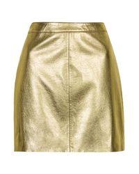 TOPSHOP Metallic Shiny Pu Mini Skirt