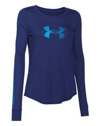 Under Armour | Purple Stripe Logo Active Top | Lyst