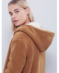 Free People | Brown Reversible Cozy Hooded Jacket | Lyst