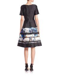 Sachin & Babi - Black Mori Brushtroke-print Fit-&-flare Dress - Lyst