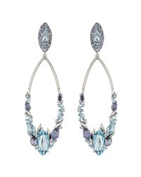 Alexis Bittar Blueberry Marquis Cluster Link Clip Earring With 18K Gold Marquis