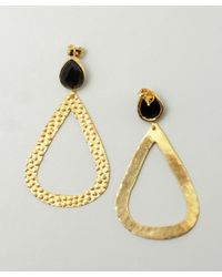 Wendy Mink | Black Onyx And Pebbled Gold Teardrop Earrings | Lyst