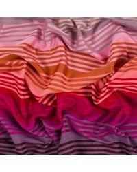 Paul Smith Pink Graded-Stripe Silk-Blend Scarf