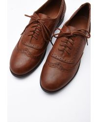 Forever 21 Brown Faux Leather Brogues