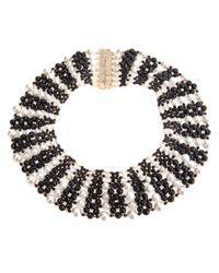 Rosantica - Black Pearl Beaded Choker - Lyst