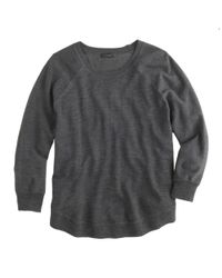 J.Crew - Gray Merino Swing Sweater - Lyst