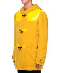 Moschino - Yellow Coat for Men - Lyst