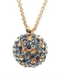 Alexander McQueen - Blue Crystal-Embellished Ball Necklace - Lyst