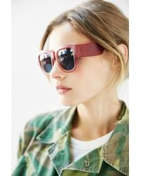 Urban Outfitters Red Becker Square Sunglasses