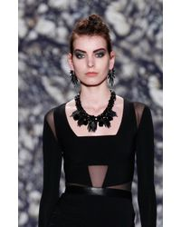 Nicole Miller Gray Spiky Earrings