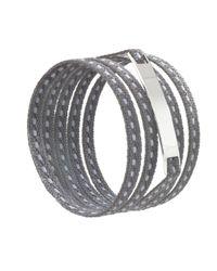 Ursul | Gray Le Lacet Parisien Grey Cotton Lace-up Bracelet for Men | Lyst