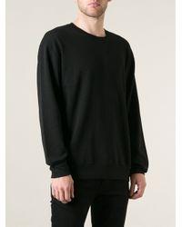 BLK DNM Black Rear Logo Print Sweatshirt for men