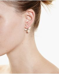 Yvonne Léon Metallic 18K Gold, Diamond And Sapphire Bee Earring