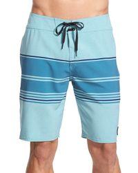 Volcom - Blue 'static Stripe' Board Shorts for Men - Lyst