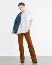 Zara | White Oversized T-shirt | Lyst