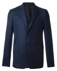 KENZO - Blue Button Blazer for Men - Lyst