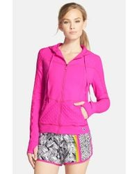 Trina Turk - Pink 'Bermuda' Hooded Jacket - Lyst