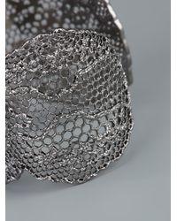 Aurelie Bidermann - Metallic Lace Bracelet - Lyst