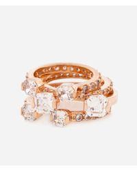Henri Bendel - Pink Luxe Midi Crystal Ring Set - Lyst