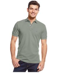 Tommy Hilfiger - Gray Custom-fit Ivy Polo for Men - Lyst