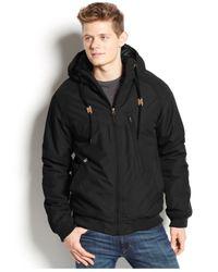 Volcom Black Hernan Hooded Jacket for men