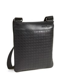 Ferragamo | Black 'gamma' Shoulder Bag for Men | Lyst