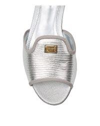 Dolce & Gabbana Metallic Taormina Lace Espadrille