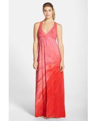 Hard Tail Red Twisty Back Maxi Dress