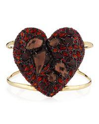 Alexis Bittar | Encrusted Black Cherry Heart Cuff | Lyst